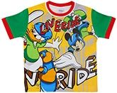 Disney - Half Sleeves T-Shirt With Live Ride Print