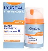 L'Oreal Men Expert Hydra Energetic Multi - Action 8 Skin Reviving Moisturizing Gel