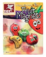 Toy Kraft - Mould And Paint Fruit Magnets 5 Years+, Mould Different Fruits Paint Them With Bri...