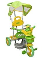 Buy Mee Mee Tricycle with Canopy and Parents Steering Handle - Frog Design Green