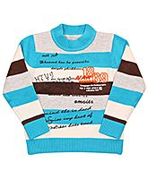 Full Sleeves Round Neck Striped Sweater