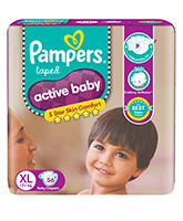 Pampers Active Baby Diapers Extra Large - 56 Pieces