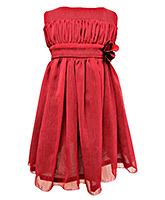 Faye - Brick Red Chiffon Dress