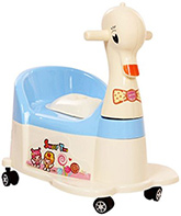 Fab N Funky Duck Shaped Potty with Wheels Blue