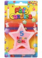Buy Birthday Girl Candle - 5 Years