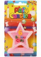 Buy Birthday Girl Candle - 6 Years
