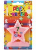 Birthday Girl Candle - 7 Years