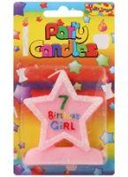 Buy Birthday Girl Candle - 7 Years