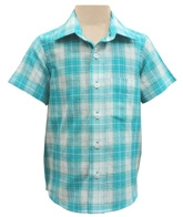 Campana Light-weight Checked Cotton Shirt - Soothing Shades of Blue