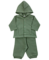 Full Sleeves Hooded Romper Suit With Buttoned Closure