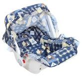 Fab N Funky Carry Cot Cool Blue with Teddy Bear Print