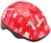 Flower Print Helmet - Red