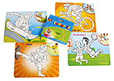 Sports Colour It Wipe It 3 Years+, Colouring Game Filled With Fun For Kids
