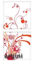 Artjini - Abstract Floral In Red