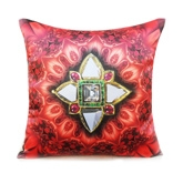 Shibori Designs - Jewelry Kaleido Cushion Cover - Red