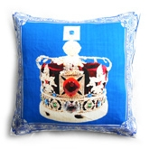 Shibori Designs - Blue Royal Crown Cushion Cover