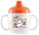 Buy Stony Angel Drinking Cup Aeroplane Print Orange 200 ml