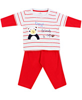 Child World - Full Sleeves T-Shirt Suit With Best Friends Print