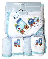 Owen - 5 Piece Starter Set Hooded Towel With 4 Wash Cloths