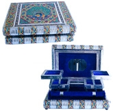 Little India Metal Colorful Meenakari Work Jewellery Box - DLI3HCF174