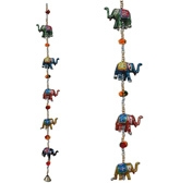 Little India Handcrafted Rajasthani Elephant Door Hanging - DLI3HCF211