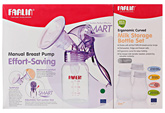 Farlin Effort Saving Manual Breast Pump with Milk Storage Bottle Set