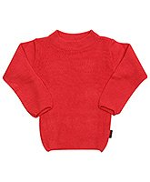 Full Sleeves Round Neck Red Sweater