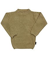 Full Sleeves Round Neck Brown Sweater