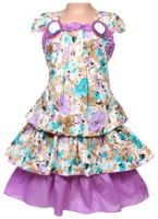 SAPS - Short Sleeves Frock With Flower Print
