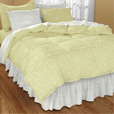 My Room Khaki Double Bed Sheet With 2 Pillow Covers