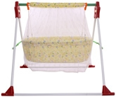 Fab N Funky - Yellow Baby Bear Print Swing