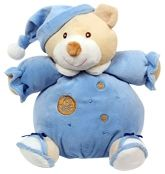 Carters Teddy Musical Soft Toy - Blue