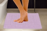 Handloomwala Cotton Bath Mat Set - Purple
