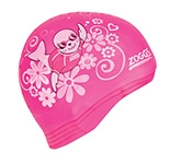 Zoggs Latex Printed Swimming Cap - Pink
