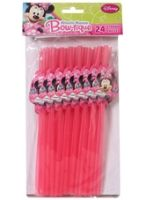 Mickey - Party Straws Vibrant Pink
