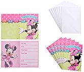 Minnie Mouse - Birthday Invitations with Envelopes