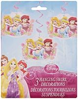 Disney Princess - Hanging Swirl Decorations