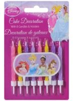Disney Princess - Cake Decor Candles with Holders