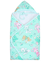 Tinycare - Hooded Towel With Teddy Print