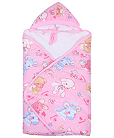 Tinycare - Hooded Towel With Baby Print