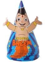Chhota Bheem Party Hats - Set of 10