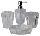 Obsessions Bath Set - Clear