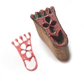 Redbug DIY Block Printing Kit - Foot Shaped Block