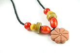 Redbug Terracotta and Wooden Bead Jewellery - Flower