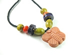Redbug Terracotta and Wooden Bead Jewellery - Butterfly