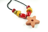 Redbug Terracotta and Wooden Bead Jewellery - Star
