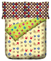 Stellar Home USA - Sleepy Heads Print Bed Linen