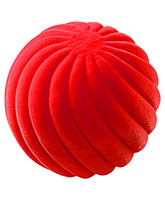 Rubbabu Natural Rubber Foam Swirl Ball - Orange