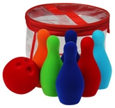 Rubbabu Natural Rubber Foam Six Pin Bowling Set