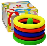 Rubbabu Natural Rubber Foam Ring Toss Set